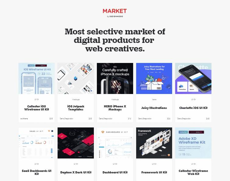 Designmodo market
